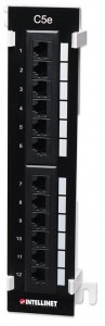 Patch panel INTELLINET NETWORK SOLUTIONS 12 Kat.5e UTP 162470