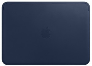Etui APPLE Leather Sleeve Midnight Blue (Nocny błękit) MQG02ZM/A