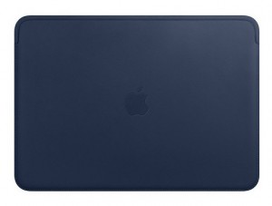 Etui APPLE Leather Sleeve Midnight Blue (Nocny błękit) MRQL2ZM/A